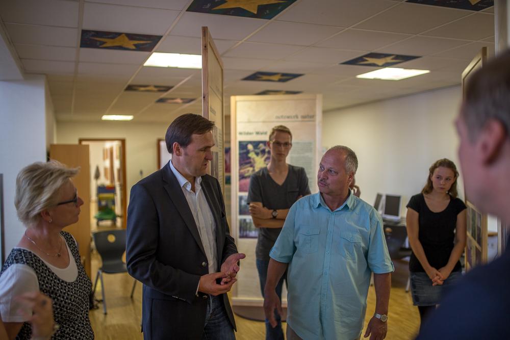 Ausstellungseröffnung der Wanderausstellung Waldgrün - Stadtgrün an der Eichenschule, Scheeßel