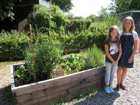 netzwerk natur- Übergabe des PflanzenWelten-Hochbeetes an die Theodor-Heuss-Schule