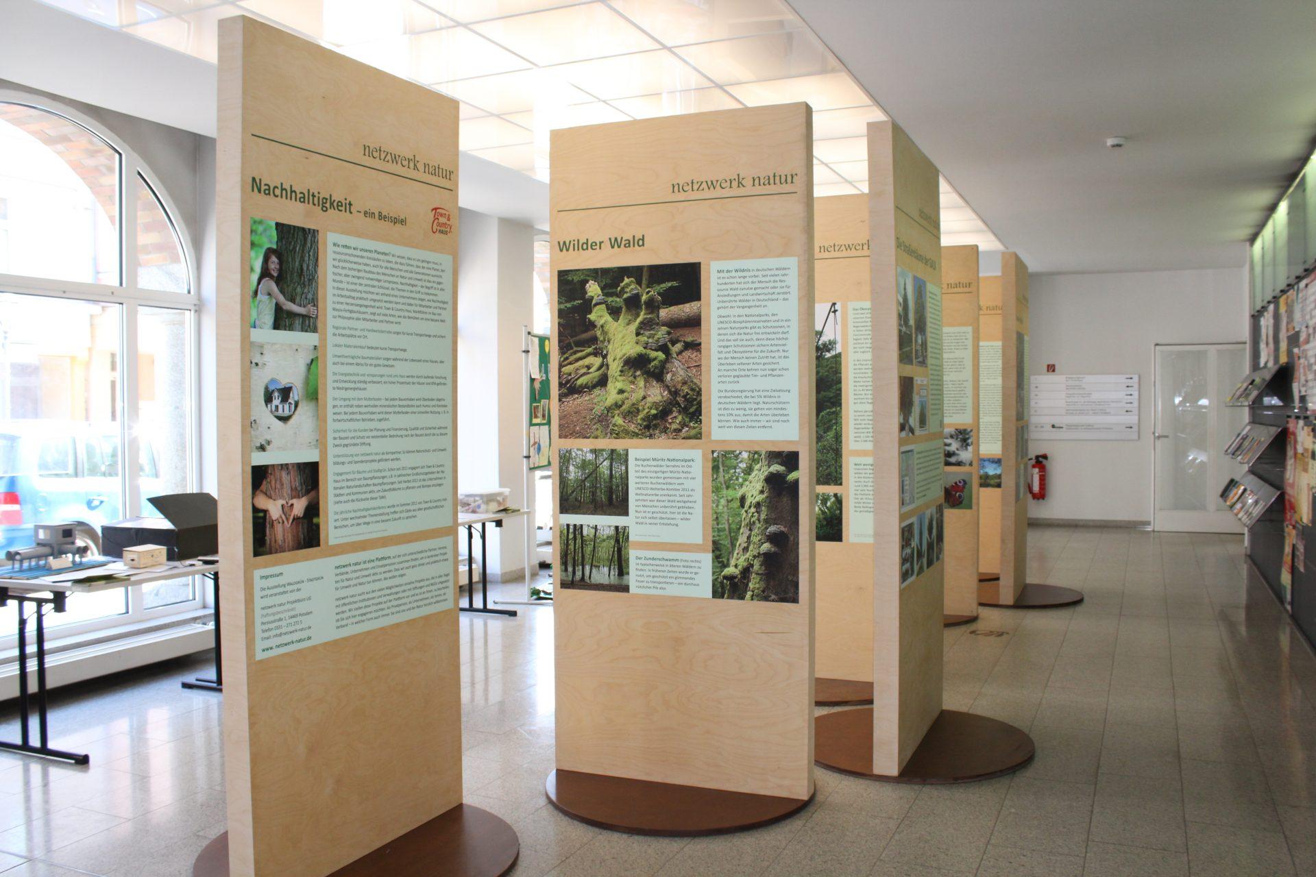 netzwerk natur, Ausstellung WALDGRÜN - STADTGRÜN, Rathaus Cottbus