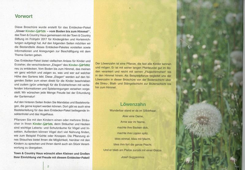 netzwerk natur, Broschüre des Entdecker-Pakets, Vorwort
