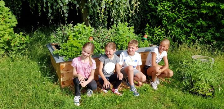netzwerk natur, Übergabe des Hochbeetes an die Marienschule in Geldern, Foto: Marienschule