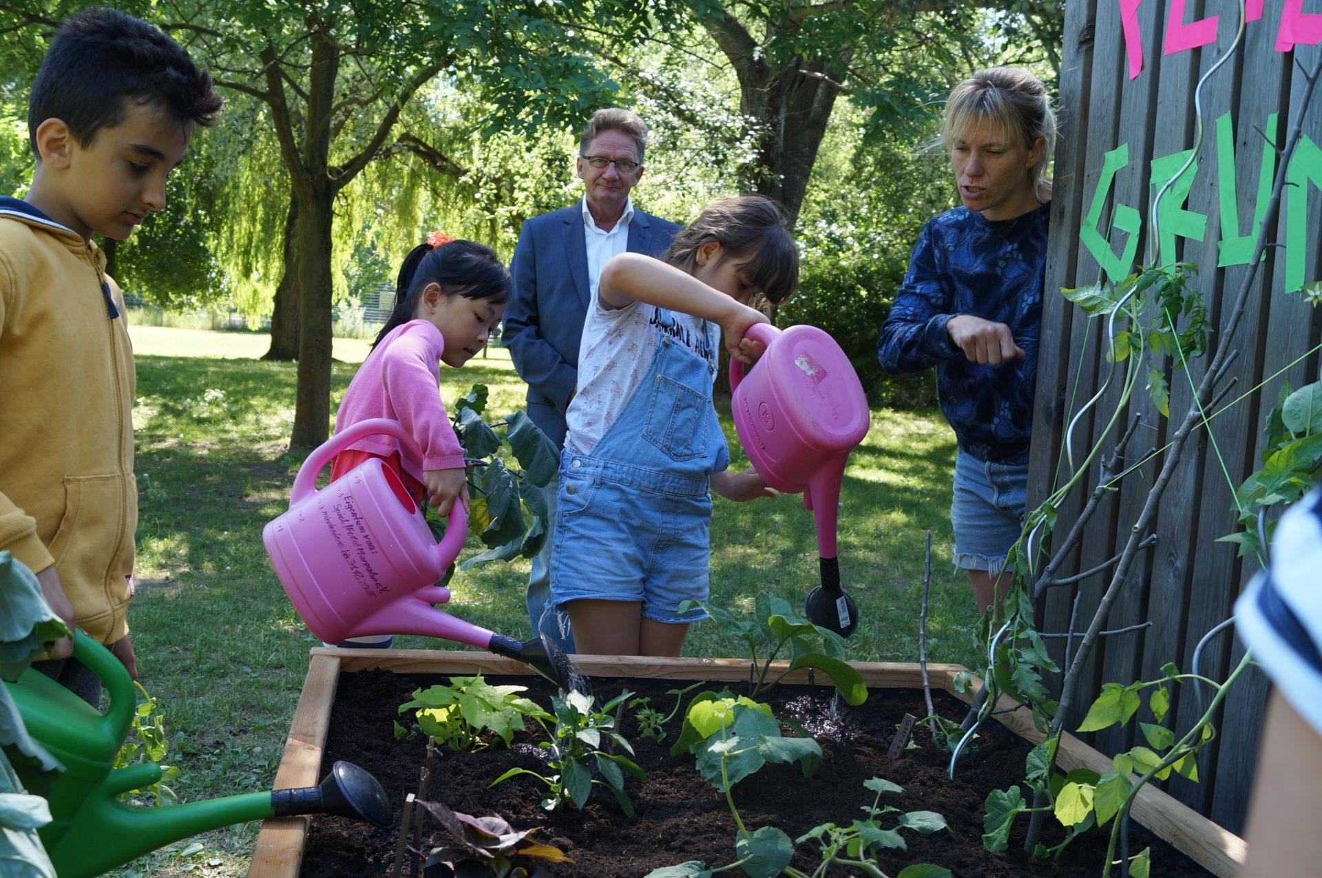 netzwerk natur, Übergabe des PflanzenWelten-Hochbeetes in Berlin Marzahn