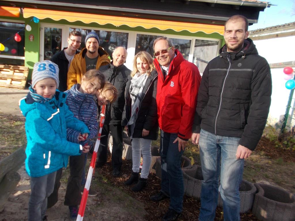 netzwerk natur, Übergabe des Naschgartens in Grünstadt (Foto: Kita Südring)