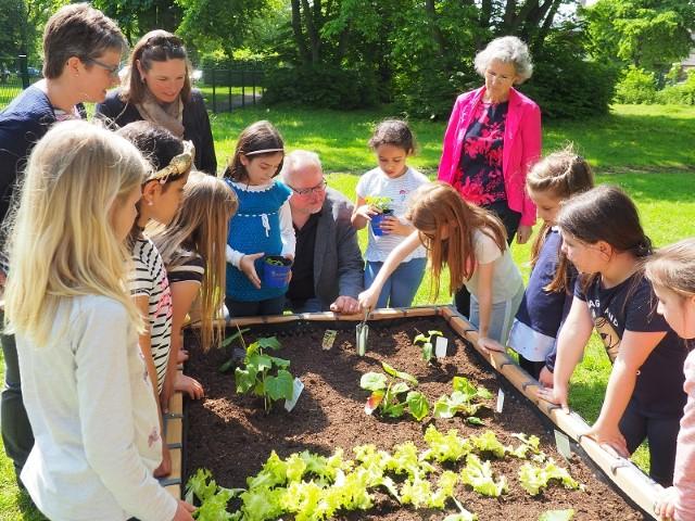 netzwerk natur, Übergabe des PflanzenWelten-Hochbeetes an die Erich-Kästner-Schule in Dormagen