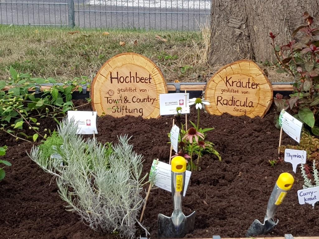 Übergabe des PflanzenWelten-Hochbeetes in Sinzig (Foto Deutsch)