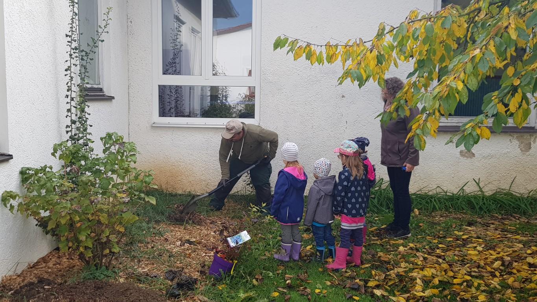 Der Naschgarten des Don Bosco-Kindergartens entsteht 2 (Foto Kita)